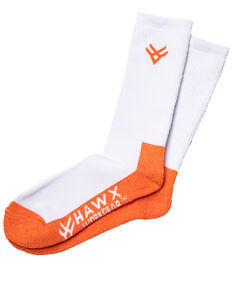 Hawx Men's 2 Pack Steel Toe All Season Socks, White, hi-res