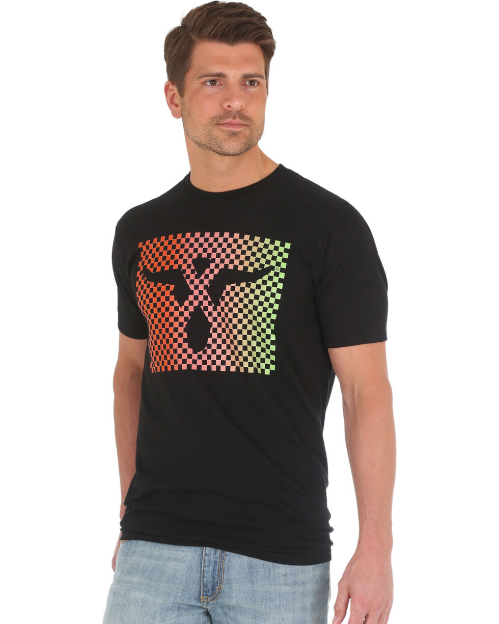 Wrangler 20X Men's Steerhead Screen Print Tee, Black, hi-res
