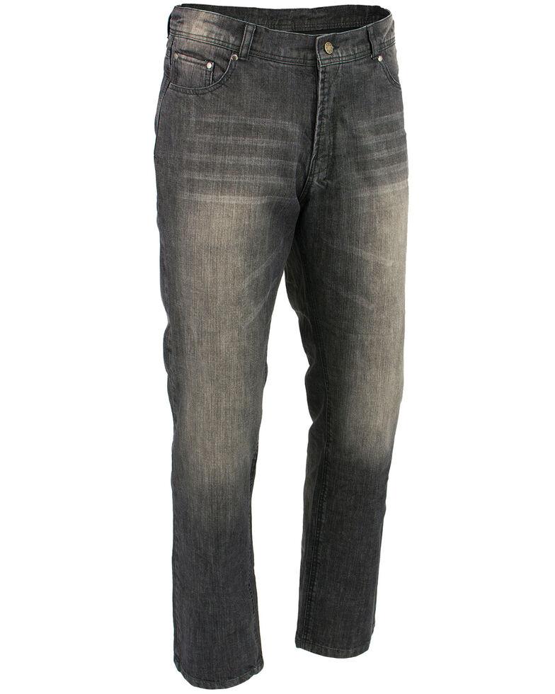 "Milwaukee Leather Men's Black 32"" Denim Jeans Reinforced With Aramid, Black, hi-res"