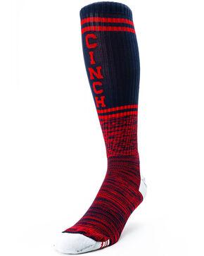 Cinch Men's Logo Boot Socks, Navy, hi-res