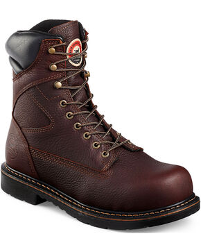 Red Wing Irish Setter Farmington Lace-Up Work Boots- Steel Toe , Brown, hi-res