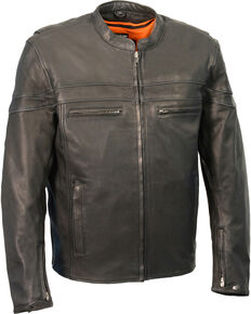 Milwaukee Leather Men's Lightweight Sporty Scooter Crossover Jacket - 4X, Black, hi-res
