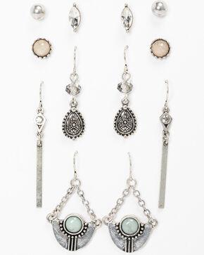 Shyanne Women's 6 Pack Earring Set, Silver, hi-res