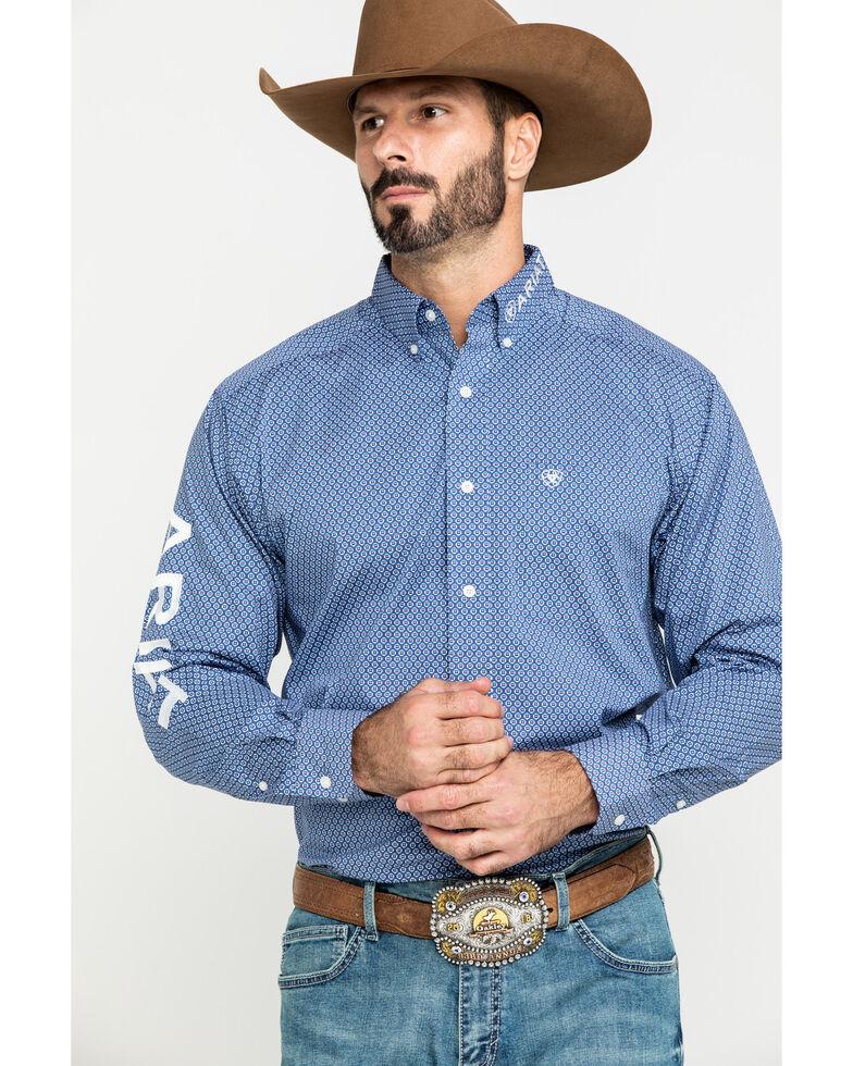 Ariat Men's Trevor Logo Geo Print Long Sleeve Western Shirt - Tall , Multi, hi-res