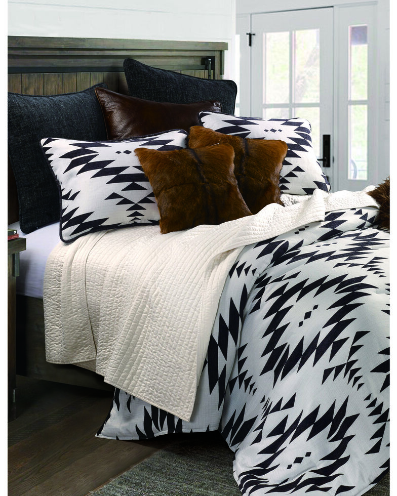 HiEnd Accents Amelia 3pc Comforter Set - Super King, Black, hi-res