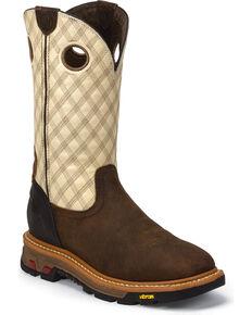 Justin Men's Commander-X5 Pull-On Work Boots, Tan, hi-res