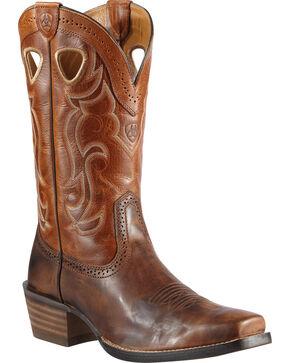 Ariat Men's Rawhide Western Boots, Chestnut, hi-res