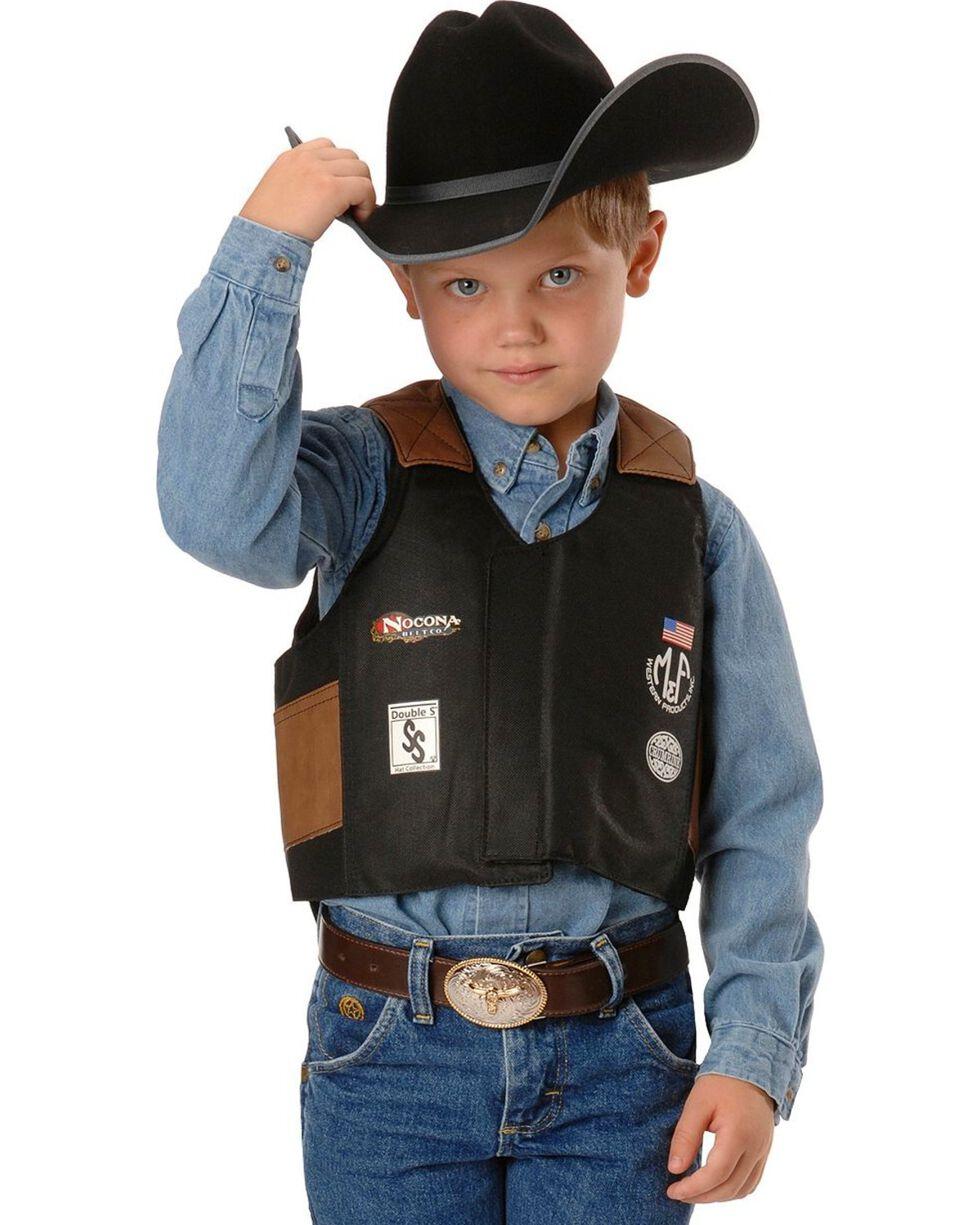 M&F Kid's Bull Rider Vest, Black, hi-res