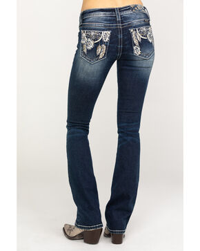 Miss Me Women's Dark Dreamcatcher Bootcut Jeans, Blue, hi-res