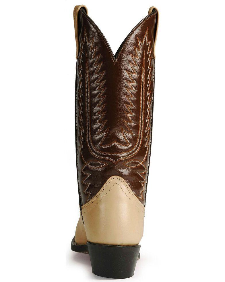 Laredo Men's Flagstaff Wingtip Western Boots, Bone, hi-res