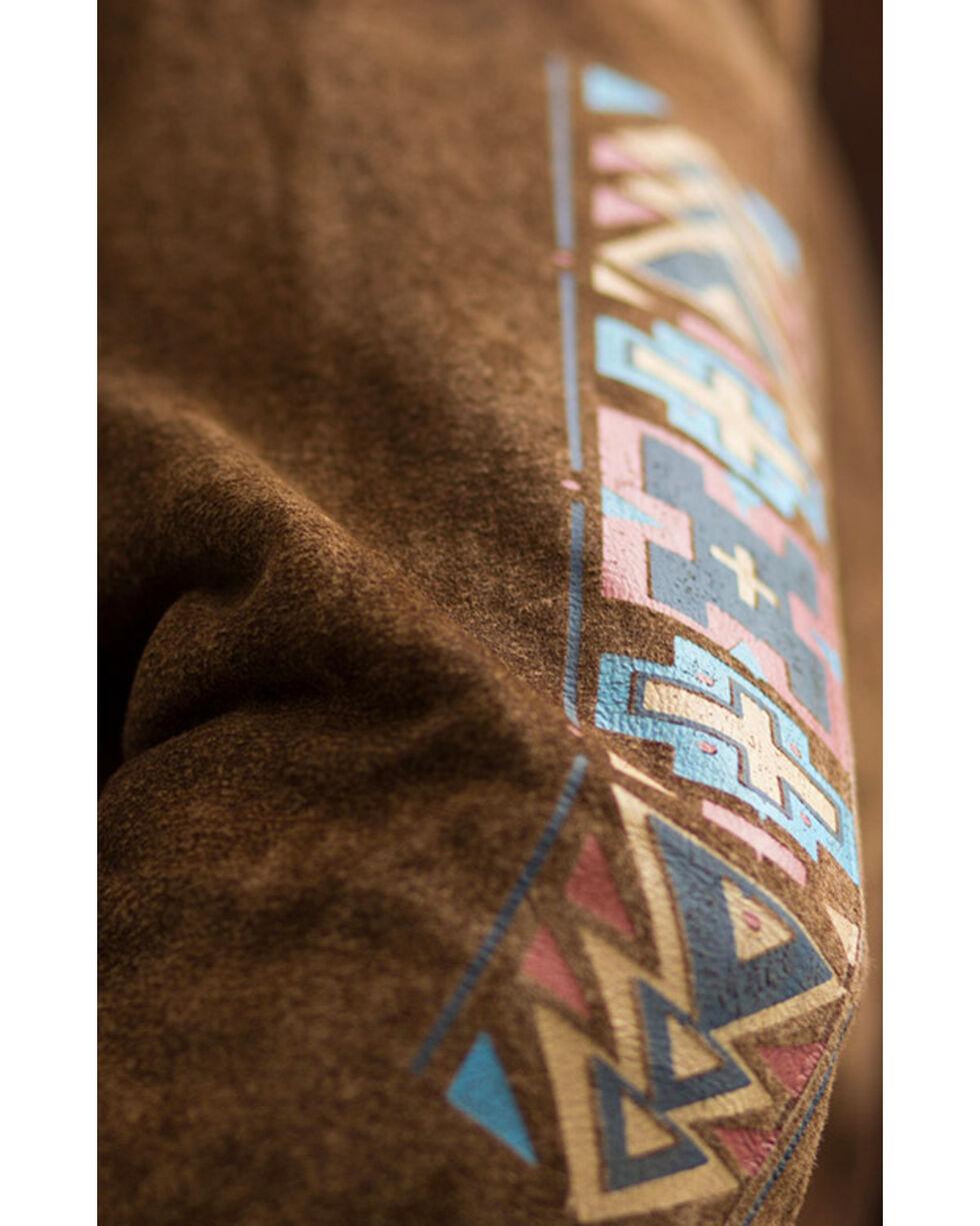 Ryan Michael Men's Painted Leather Shirt Jacket, Brown, hi-res