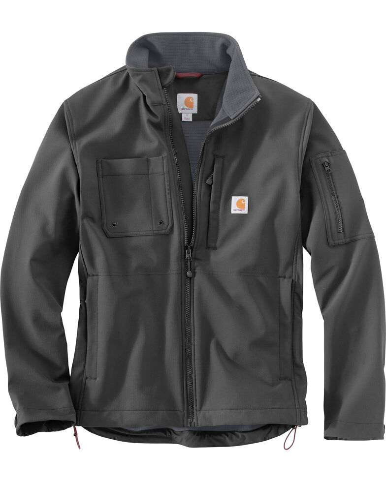 Carhartt Men's Roughcut Work Jacket - Big & Tall, Charcoal, hi-res