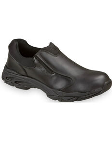 Thorogood Men's Metal Free Slip-On Work Shoes - Composite Toe, Black, hi-res