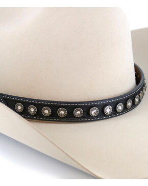 Cody James® Silver Conchos Hatband, Black, hi-res
