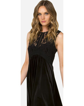 Miss Me Black Lace Sleeveless Dress , Black, hi-res