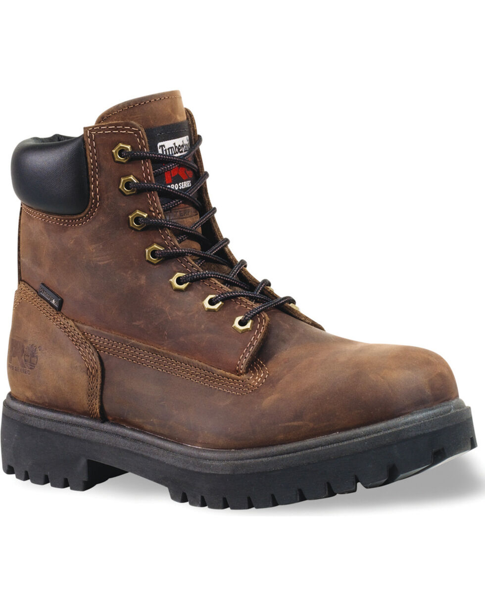 "Timberland Pro Men's 6"" Insulated Waterproof Work Boots, Dark Brown, hi-res"
