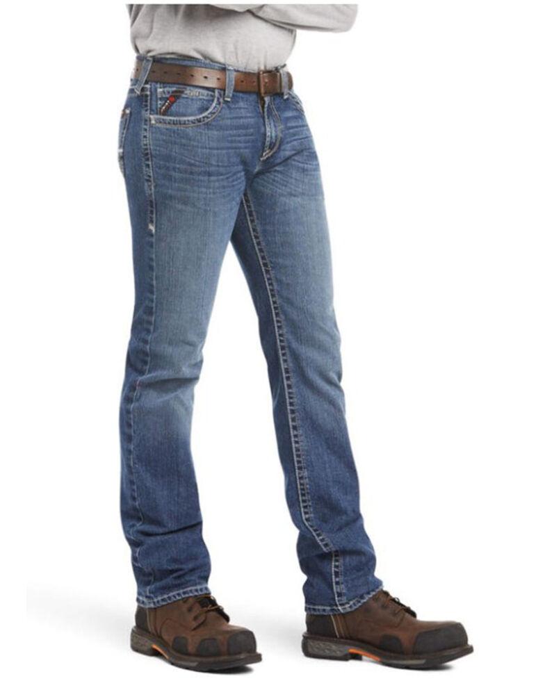 Ariat Men's FR M7 Adkins Durastretch Slim Straight Work Jeans, Indigo, hi-res