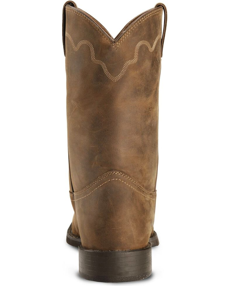 Justin Men's Stampede Roper Western Boots, Bay Apache, hi-res