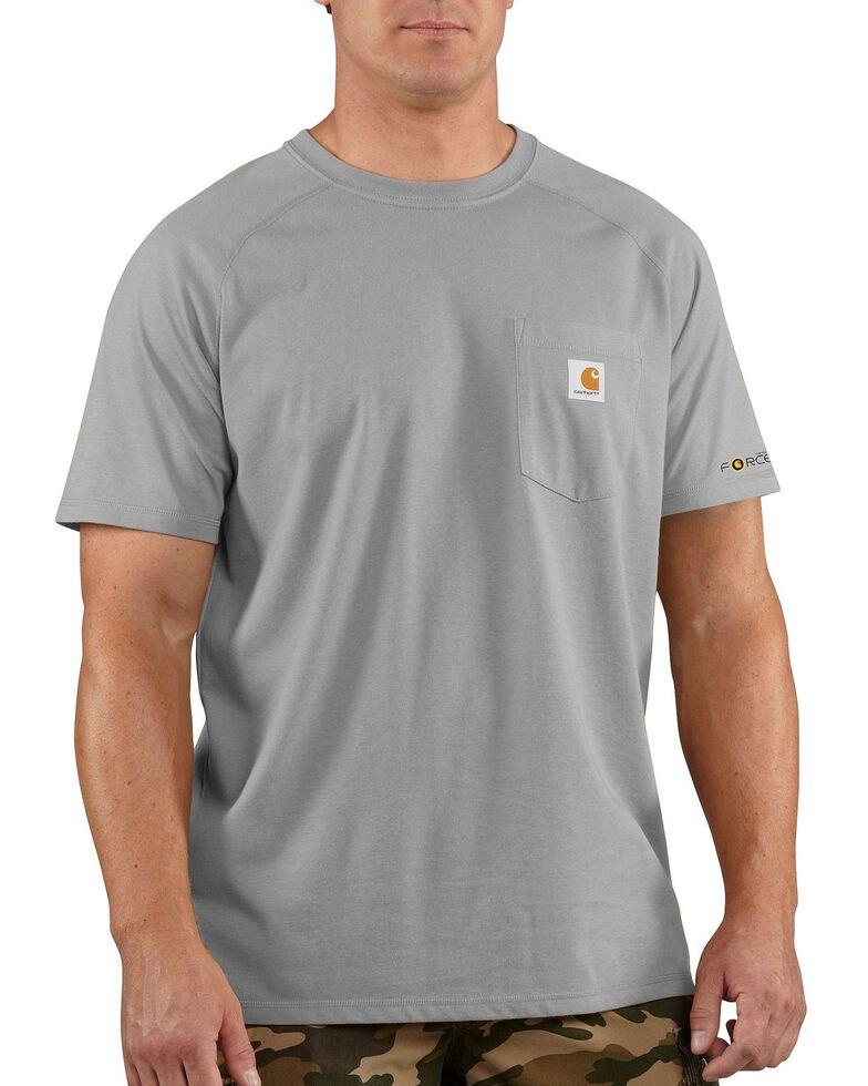 Carhartt Men's Short Sleeve Force T-Shirt, Hthr Grey, hi-res