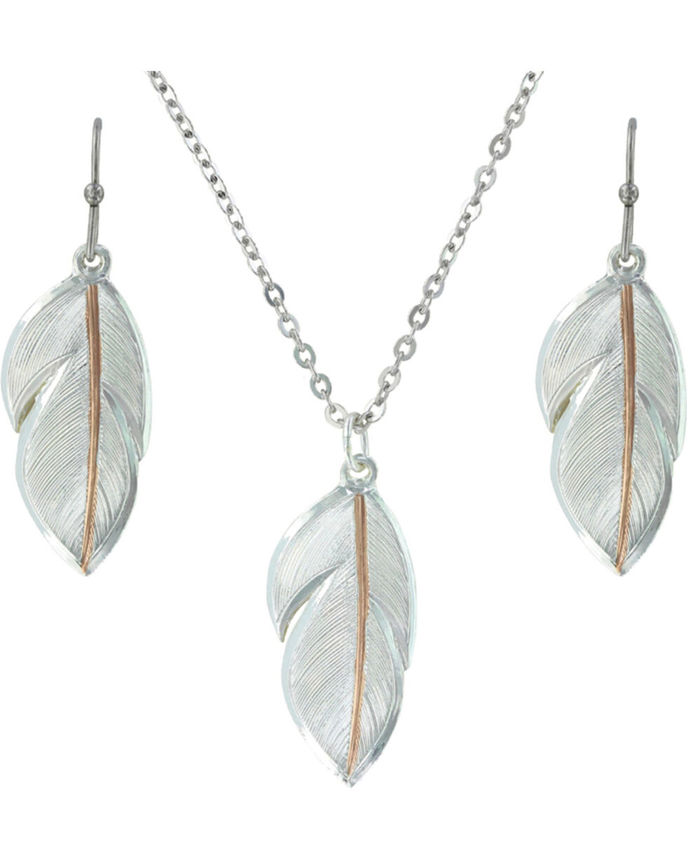 Montana Silversmiths Downy Feather Jewelry Set, Multi, hi-res