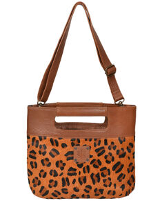 STS Ranchware By Carroll Women's Leopard Flat Rock Clutch Bag, Multi, hi-res