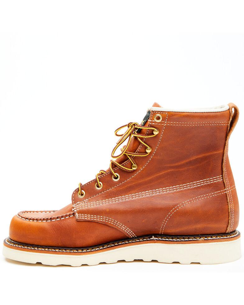 "Thorogood Men's 6"" Moc Toe Lace-Up Work Boots, Tan, hi-res"