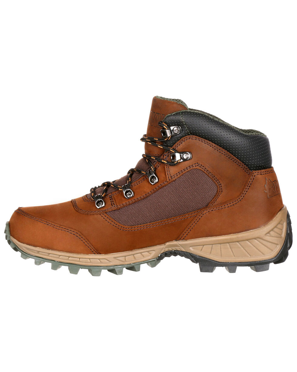Rocky Men's Stratum Waterproof Outdoor Shoes - Round Toe, Brown, hi-res