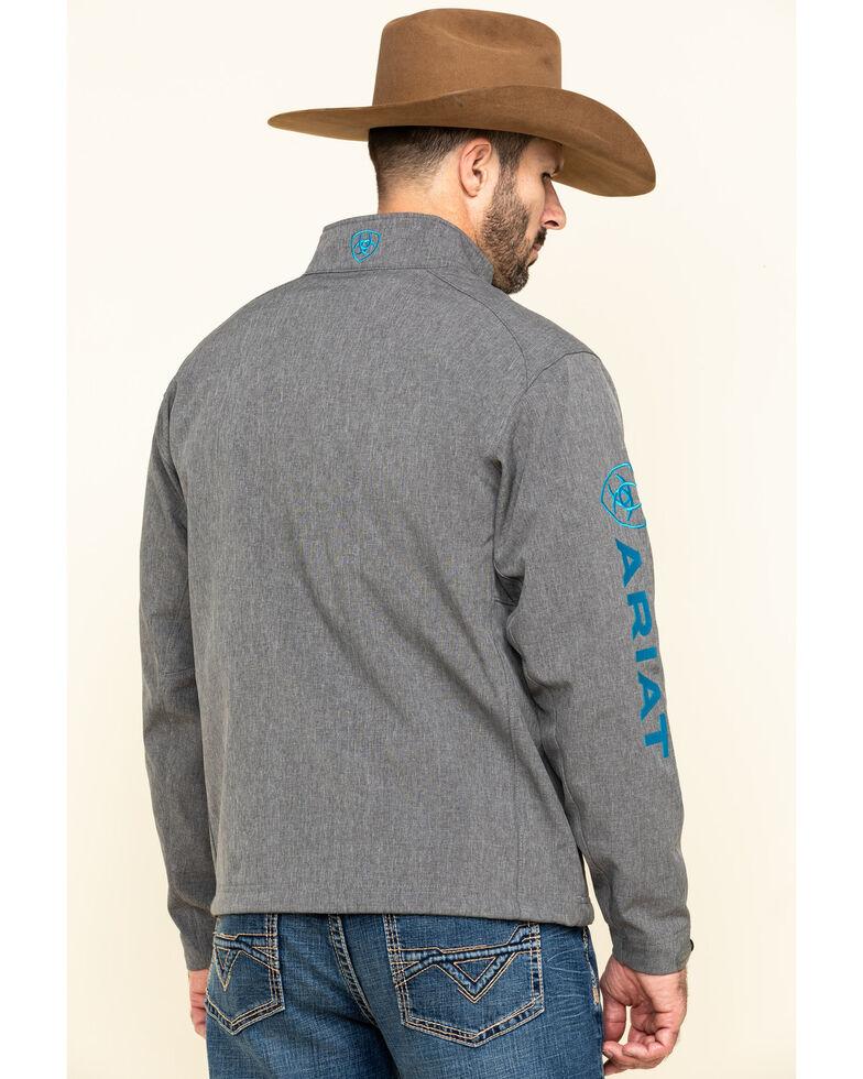 Ariat Men's Charcoal Logo 2.0 Softshell Zip-Up Jacket , Charcoal, hi-res