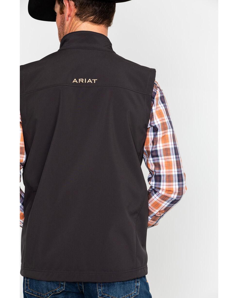 Ariat Men's Black Vernon Softshell Logo Vest, Brown, hi-res