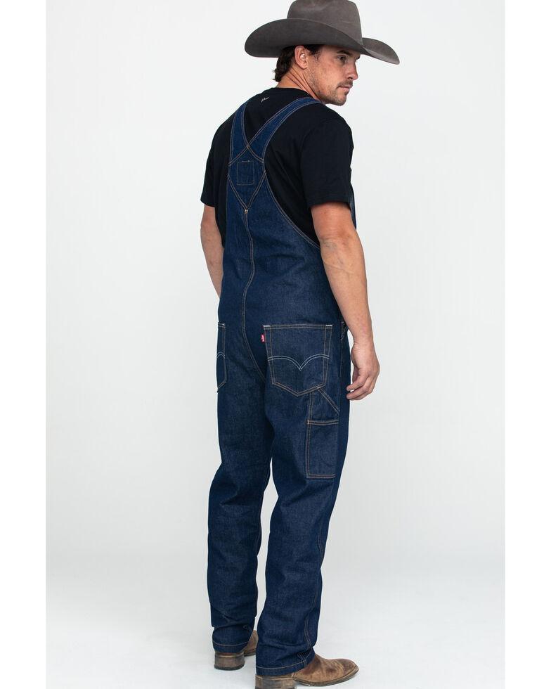 Levis' Men's Rinse Regular Relaxed Straight Overalls , Medium Blue, hi-res