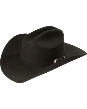 Justin 3X Wool Felt Hat, Black, hi-res