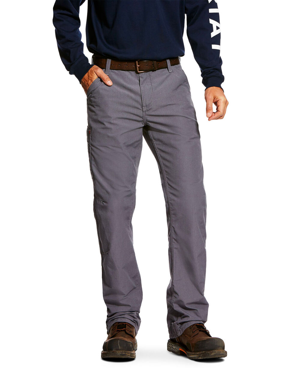 Ariat Men's FR M4 Duralight Ripstop Work Pants , Grey, hi-res