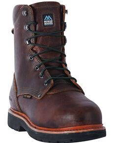 "McRae Men's 8"" Met Guard Extreme Work Boots - Steel Toe, Brown, hi-res"