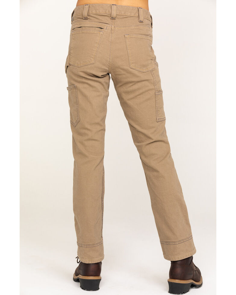 Dovetail Workwear Women's Britt Utility Stretch Duck Canvas Straight Pants, Natural, hi-res