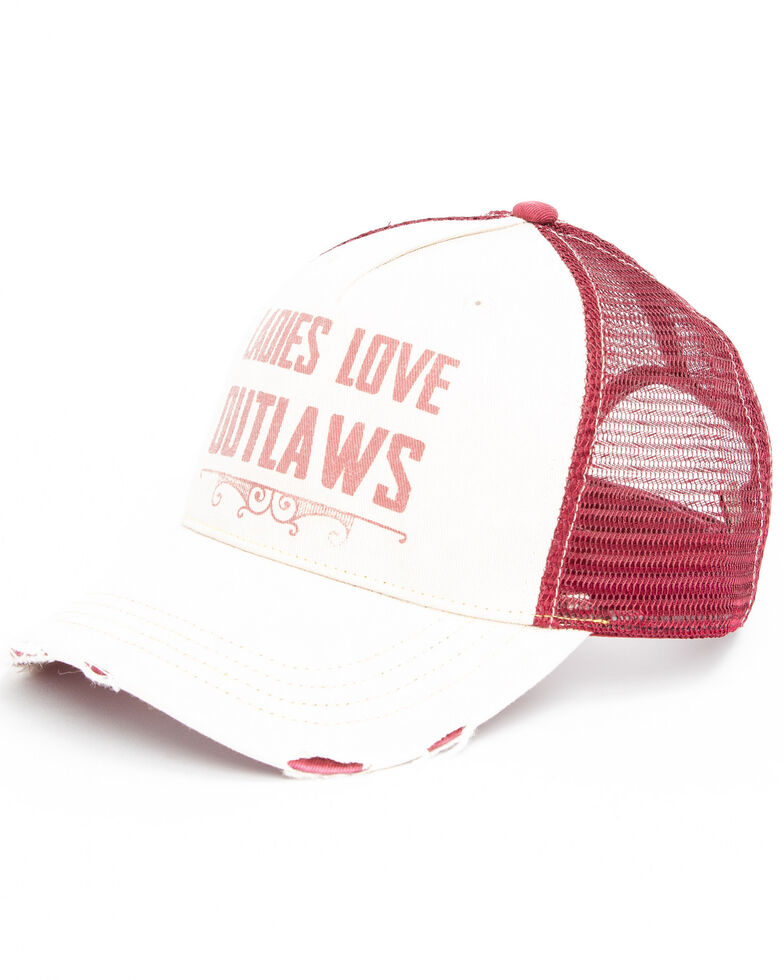 Idyllwind Women's Ladies Love Outlaws Baseball Cap , Ivory, hi-res