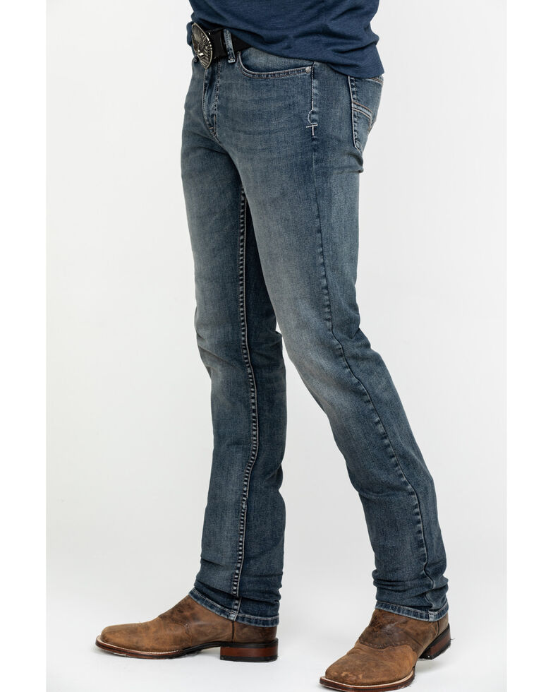 Moonshine Spirit Men's Sterlington Skinny Bootcut Jeans , Indigo, hi-res