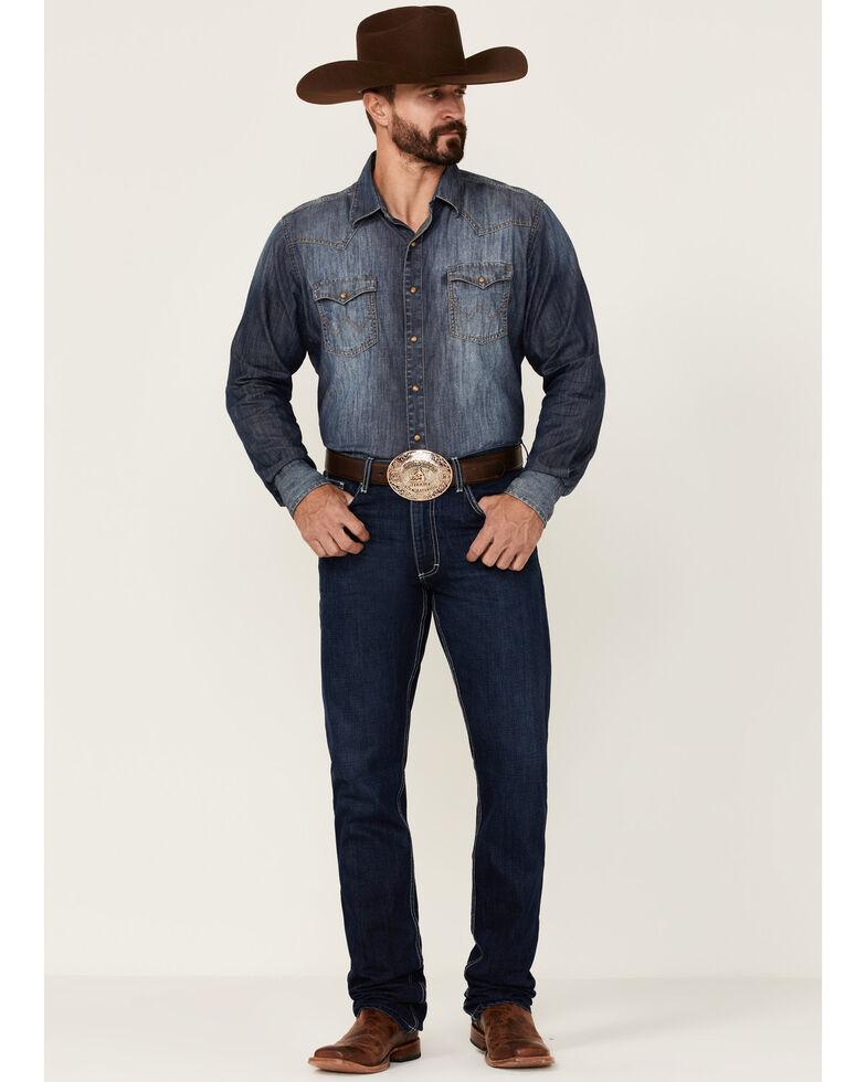 Kimes Ranch Men's Thomas Dark Wash Straight Bootcut Riding Jeans , Indigo, hi-res