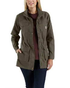 Carhartt Women's Smithville Work Jacket, Dark Brown, hi-res