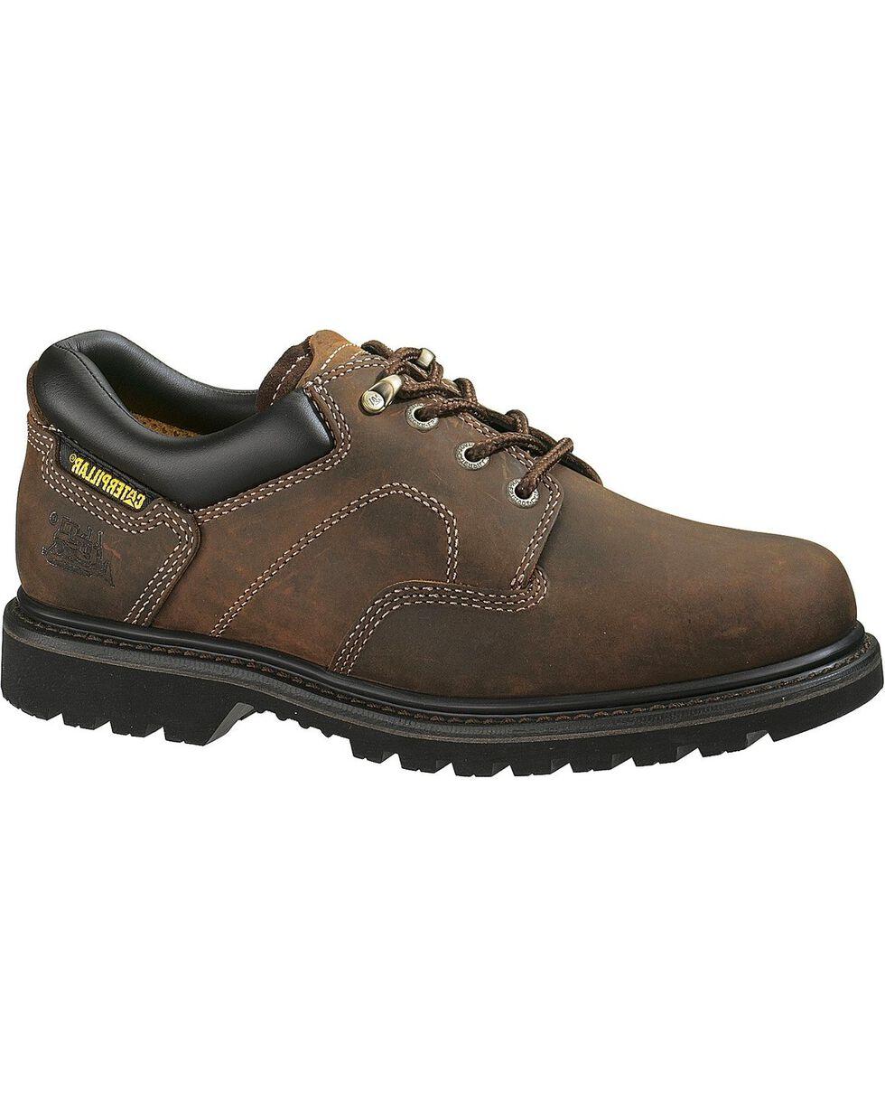 Caterpillar Ridgemont Lace-Up Oxford Work Shoes - Round Toe, Dark Brown, hi-res