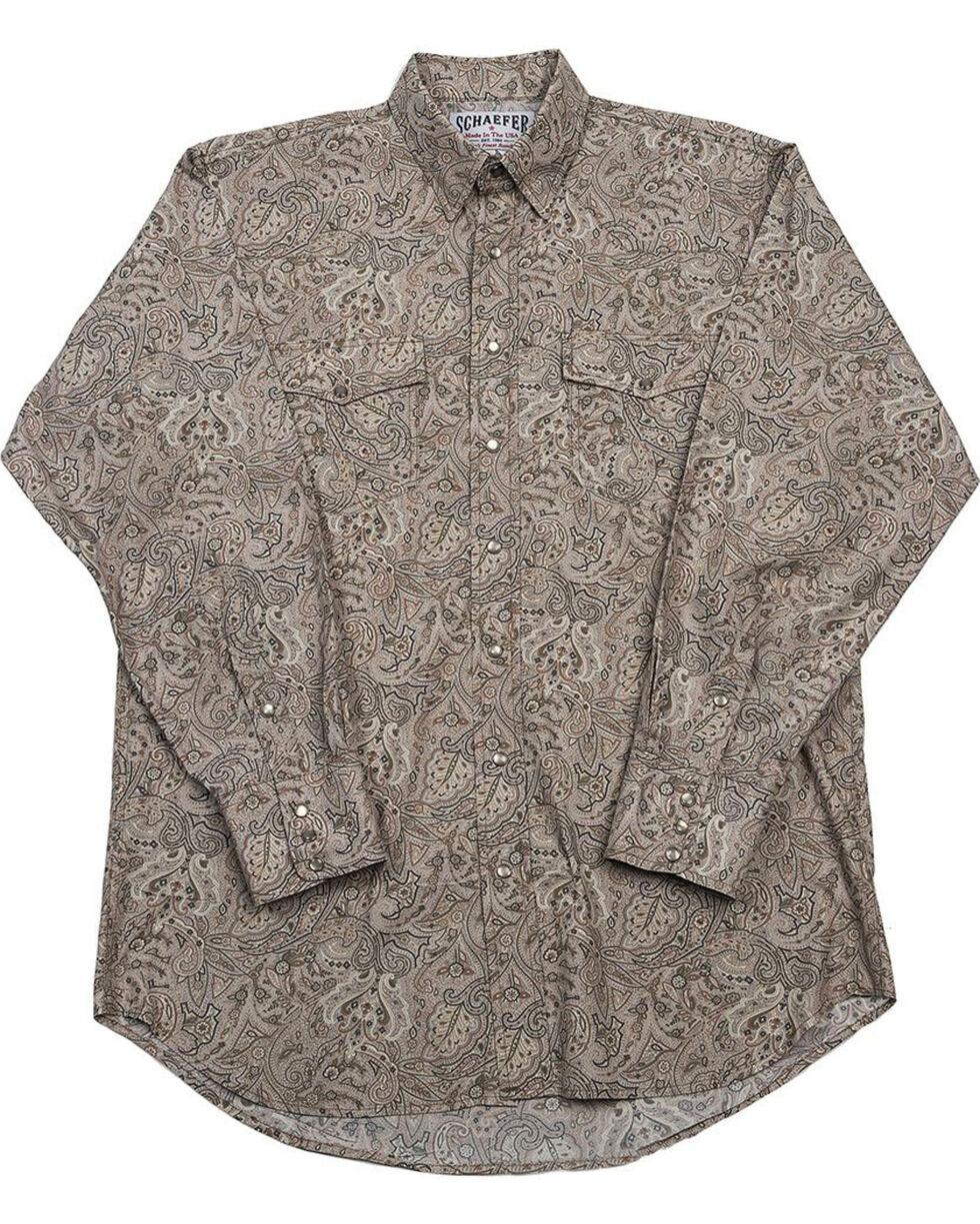 Schaefer Outfitter Men's Beige Frontier Paisley Western Snap Shirt - 2XL, Beige/khaki, hi-res