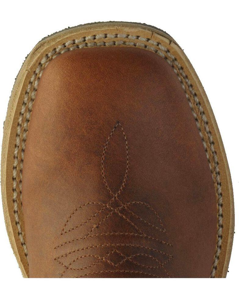 Old West Children Boys' Rust Calfskin Cowboy Boots - Square Toe, , hi-res