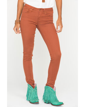 Wrangler Women's Premium Patch Skinny Jeans, Orange, hi-res