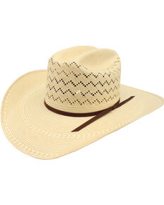 Ariat Men's 20X Straw Cowboy Hat, Natural, hi-res