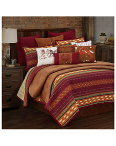 HiEnd Accents King Reversible Solace Quilt Set, Red, hi-res