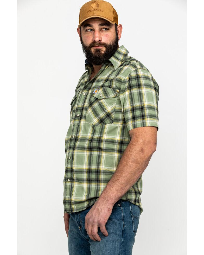 Carhartt Men's Green Solid Rugged Flex Rigby Short Sleeve Work Shirt - Big , Green, hi-res
