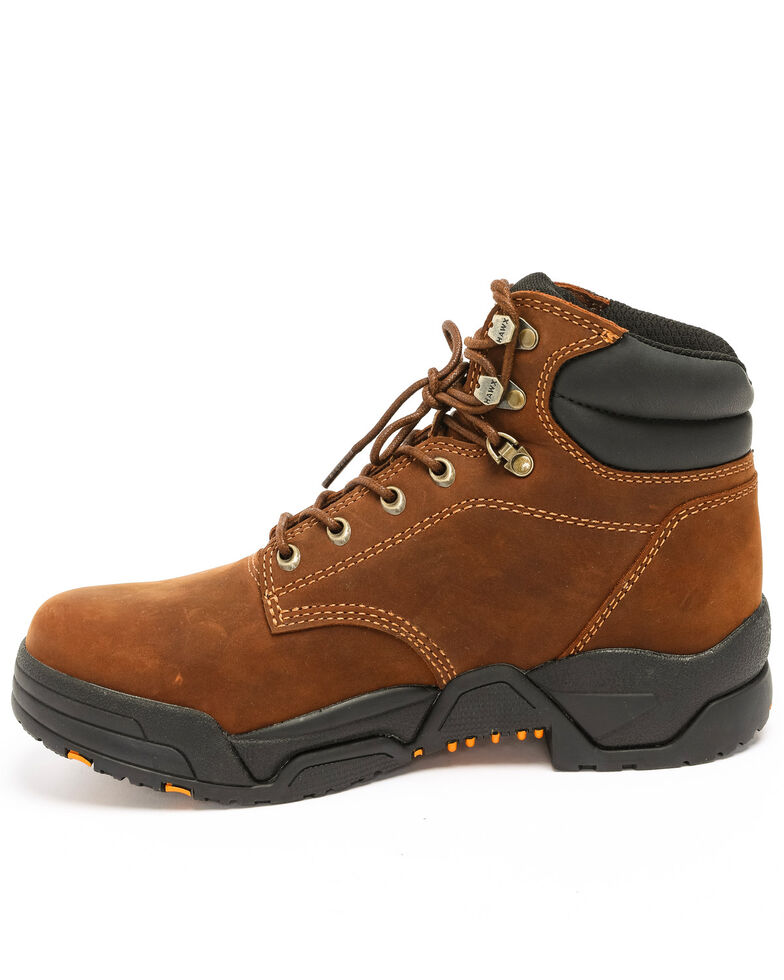 Hawx Men's Brown Enforcer Lace-Up Work Boots - Round Toe, Brown, hi-res