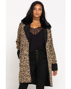 Double D Ranchwear Women's Leopard Cactus Cat Jacket, Leopard, hi-res