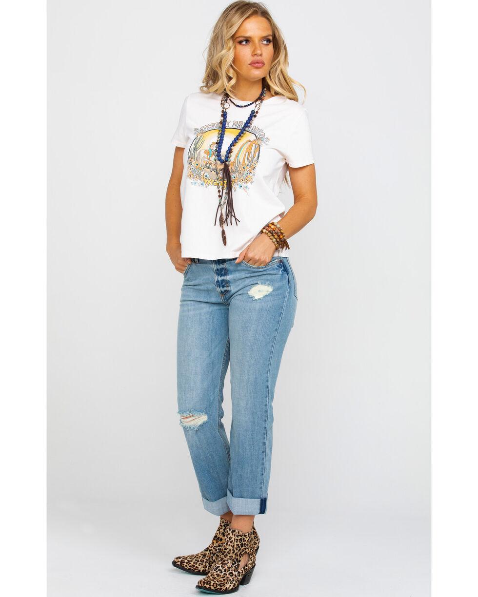 Wrangler Women's Modern Blush Desert Dreaming Graphic T-Shirt , Peach, hi-res