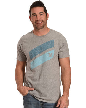 Hurley Men's Icon Slash Push Through Tee, Dark Grey, hi-res