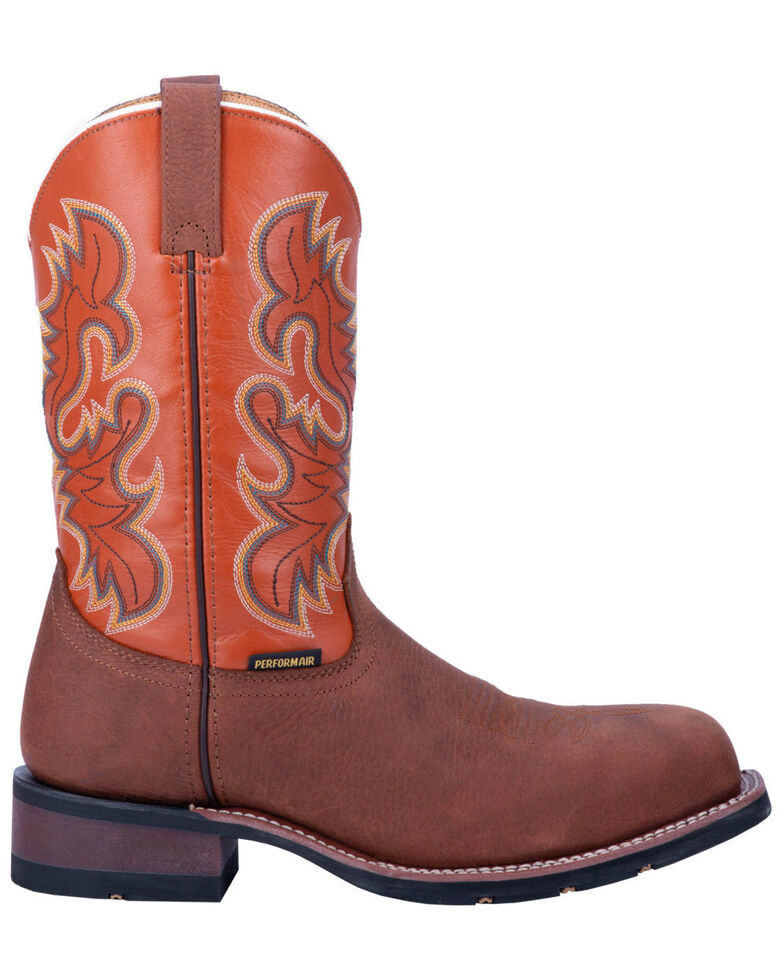 Laredo Men's Edwards Western Work Boots - Steel Toe, Brown, hi-res